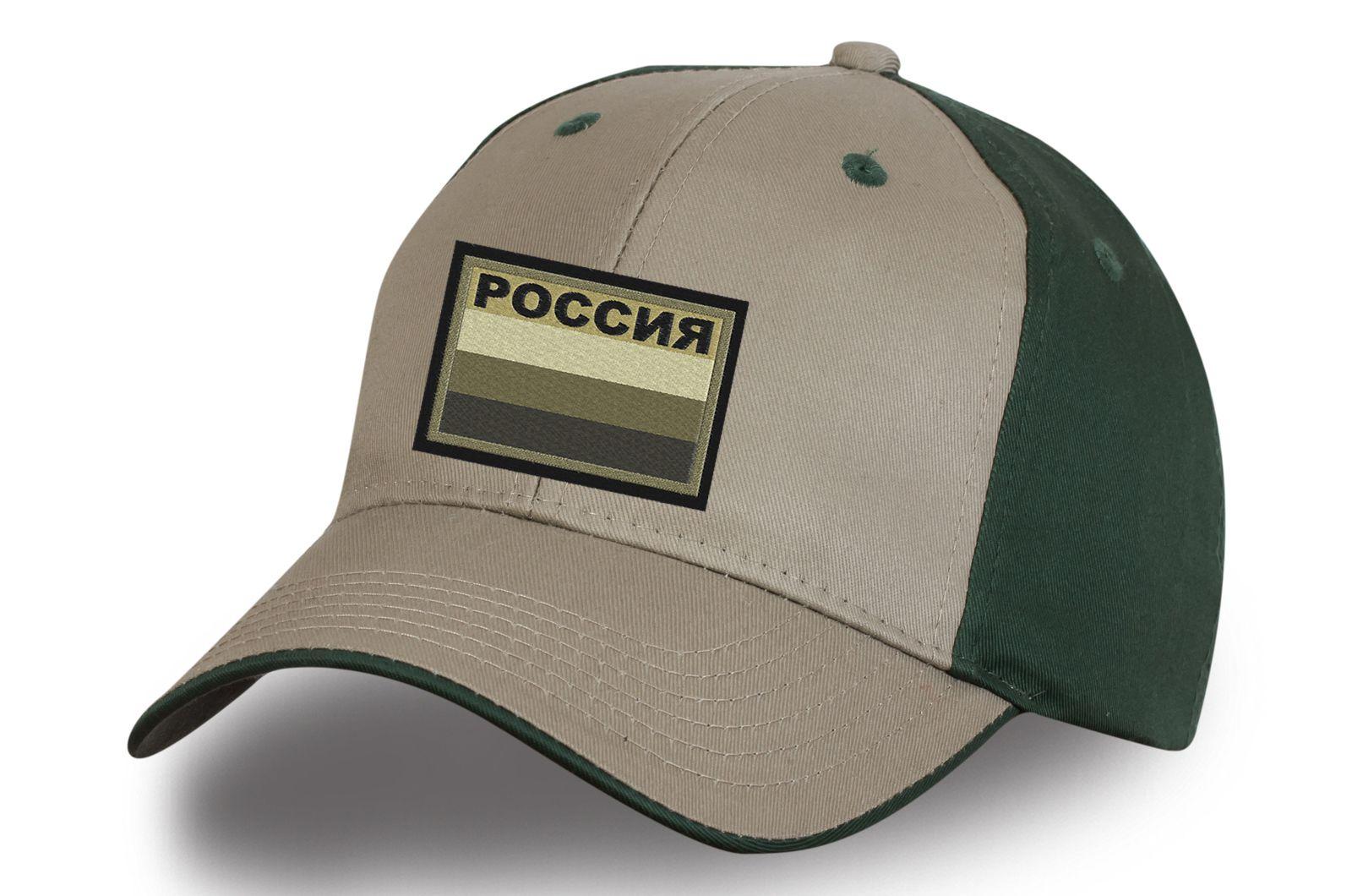 Бейсболка с полевой нашивкой Россия