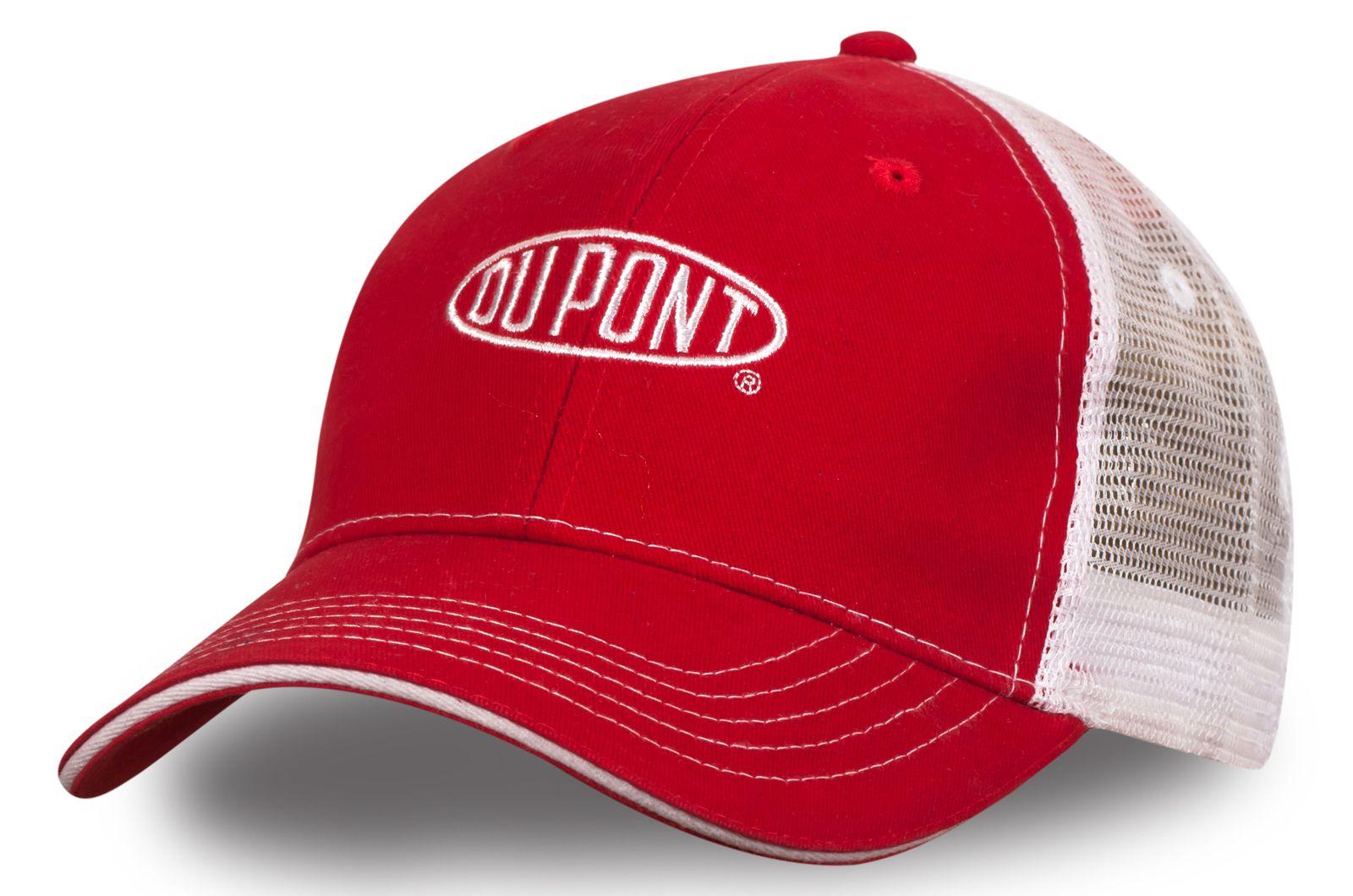 Бейсболка с сеткой красно-белая - купить в интернет-магазине с доставкой