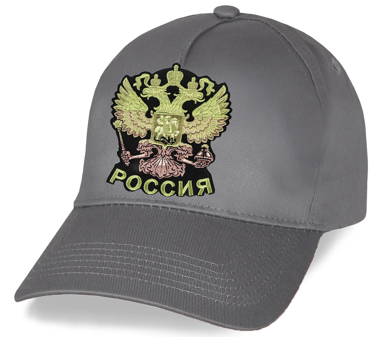 Бейсболка с вышитым гербом России
