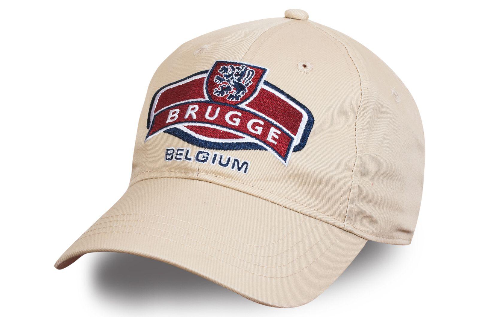 """Бейсболка с вышивкой """"Бельгия. Брюгге"""" - купить с доставкой"""