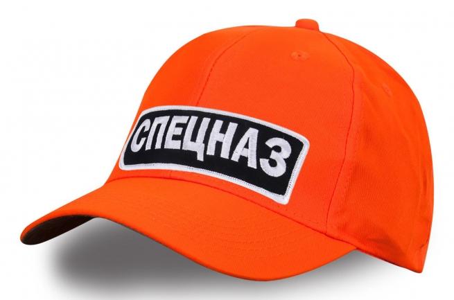 Бейсболка с вышивкой СПЕЦНАЗ оранжевая