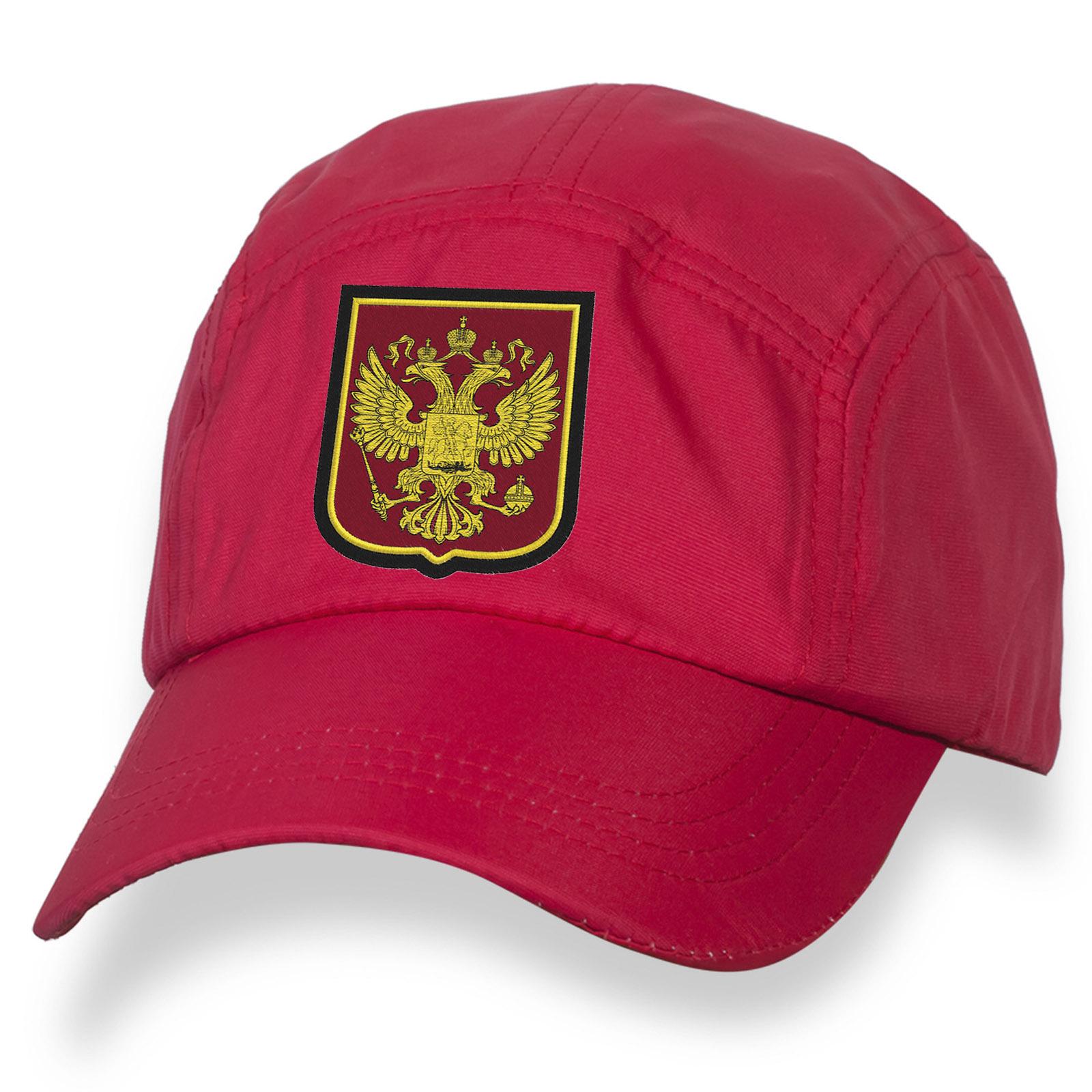 Серия ПАТРИОТ! Бейсболка с вышивкой Герб России.