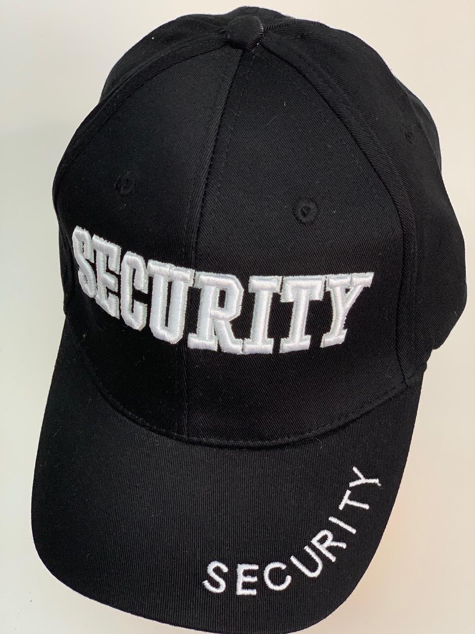 Бейсболка Security черного цвета