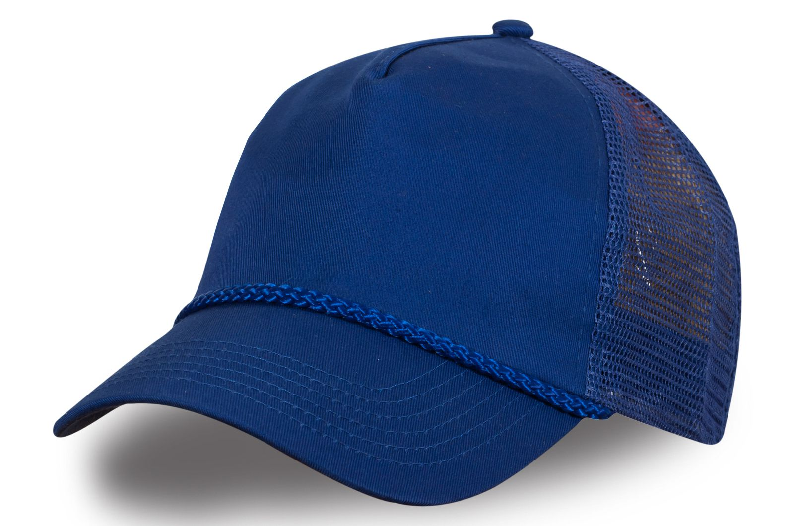 Бейсболка сетчатая синяя - купить с доставкой