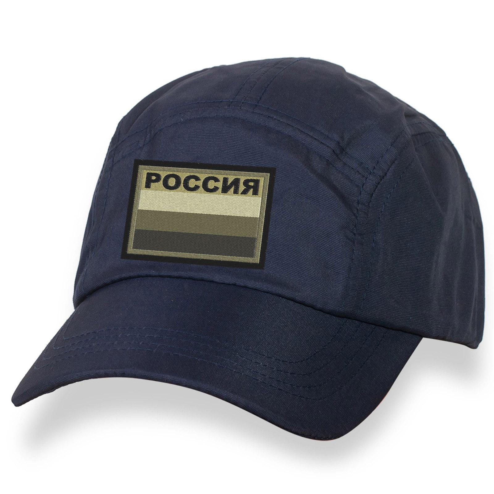Милитари бейсболка с полевым шевроном Россия