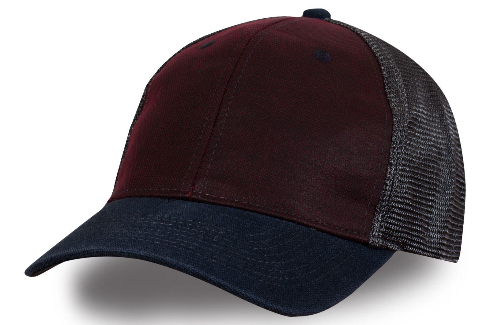 Бейсболка сине-коричневая | Купить мужские бейсболки по выгодной цене