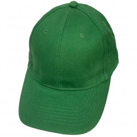 Бейсболка сочно-зеленого цвета классического кроя