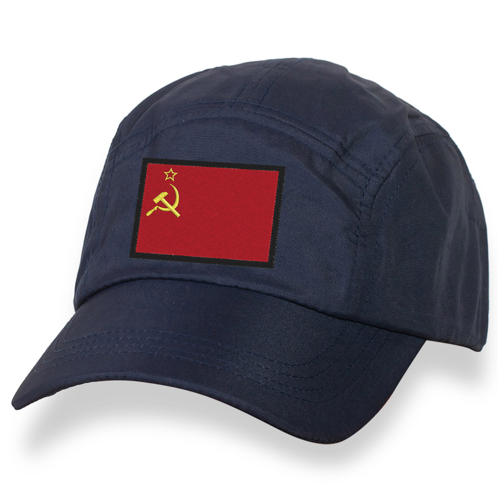 Классическая бейсболка с вышитым Советским флагом