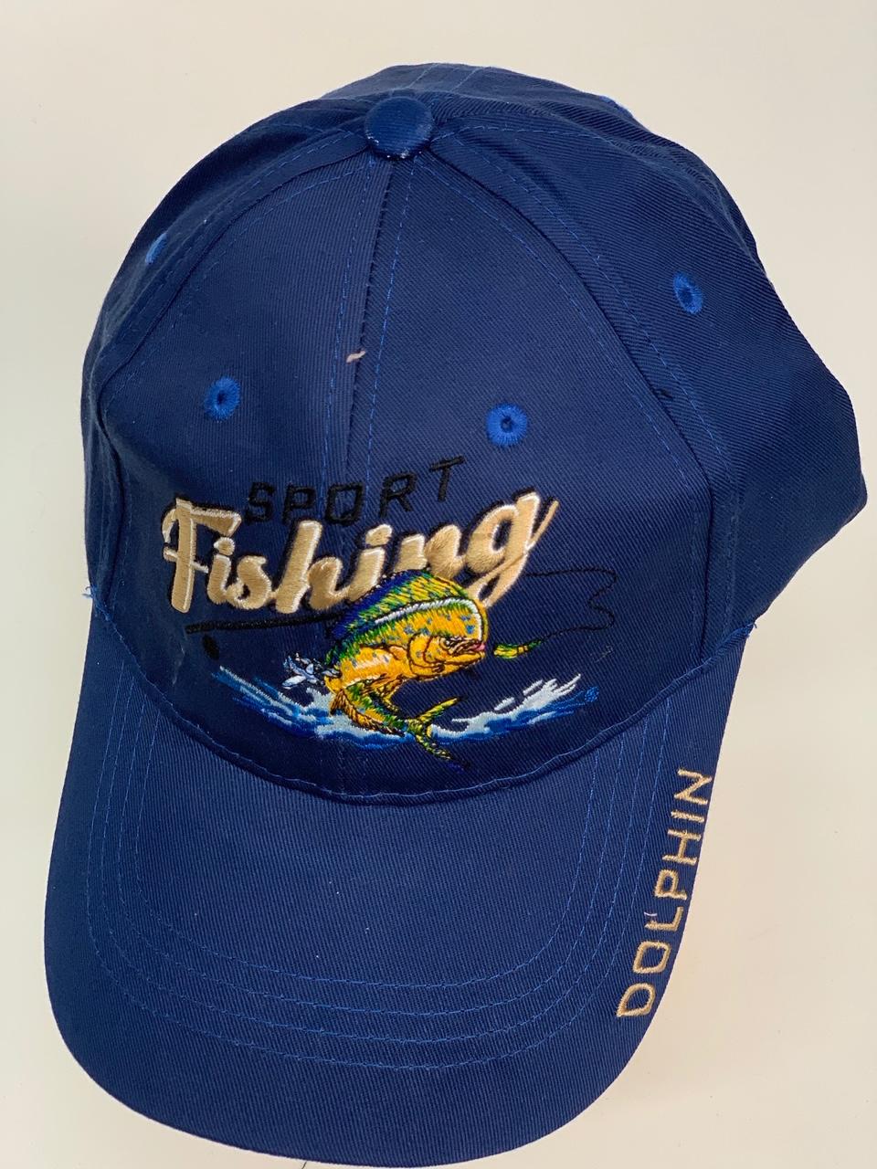 Бейсболка Sport fishing темно-синего цвета