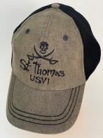 Бейсболка St. Thomas USVI с черепом и скрещенными саблями