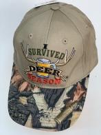 Бейсболка Survived Deer Season с камуфляжным козырьком