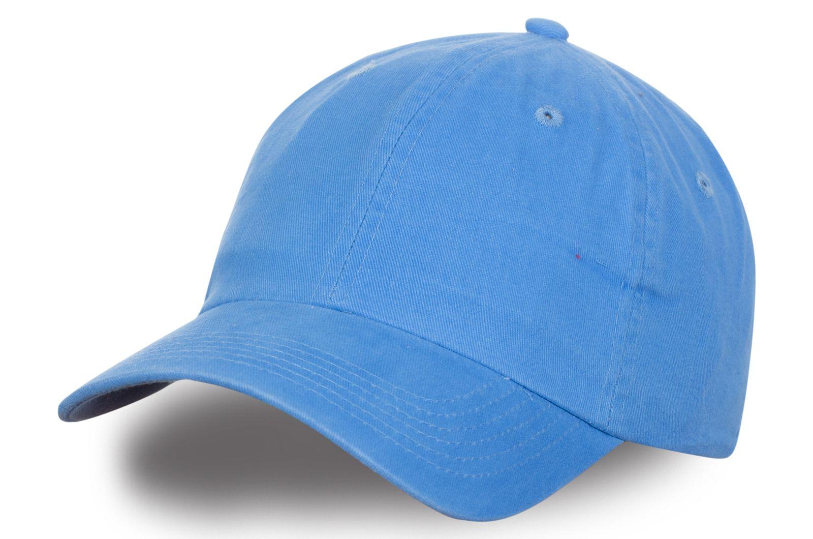 Бейсболка светло-голубая - купить онлайн недорого