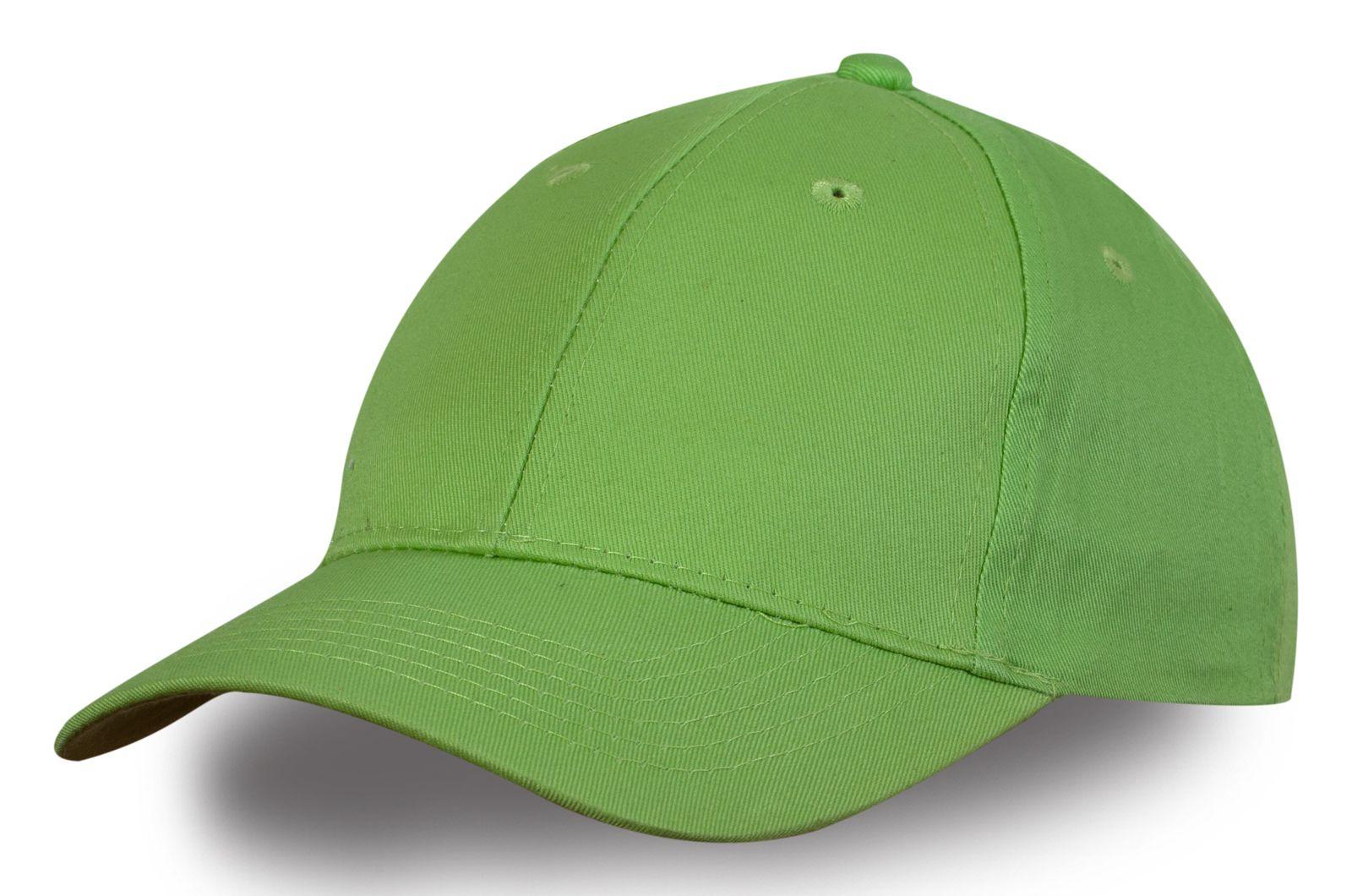 Бейсболка светло-зелёная