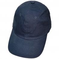 Бейсболка темно-синего цвета из джинсовой ткани