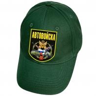 Бейсболка темно-зеленая с термоаппликацией Автовойска