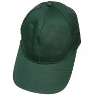 Бейсболка темно-зеленого цвета классического кроя