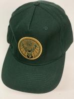 Бейсболка темно-зеленого цвета с вышитым оленем