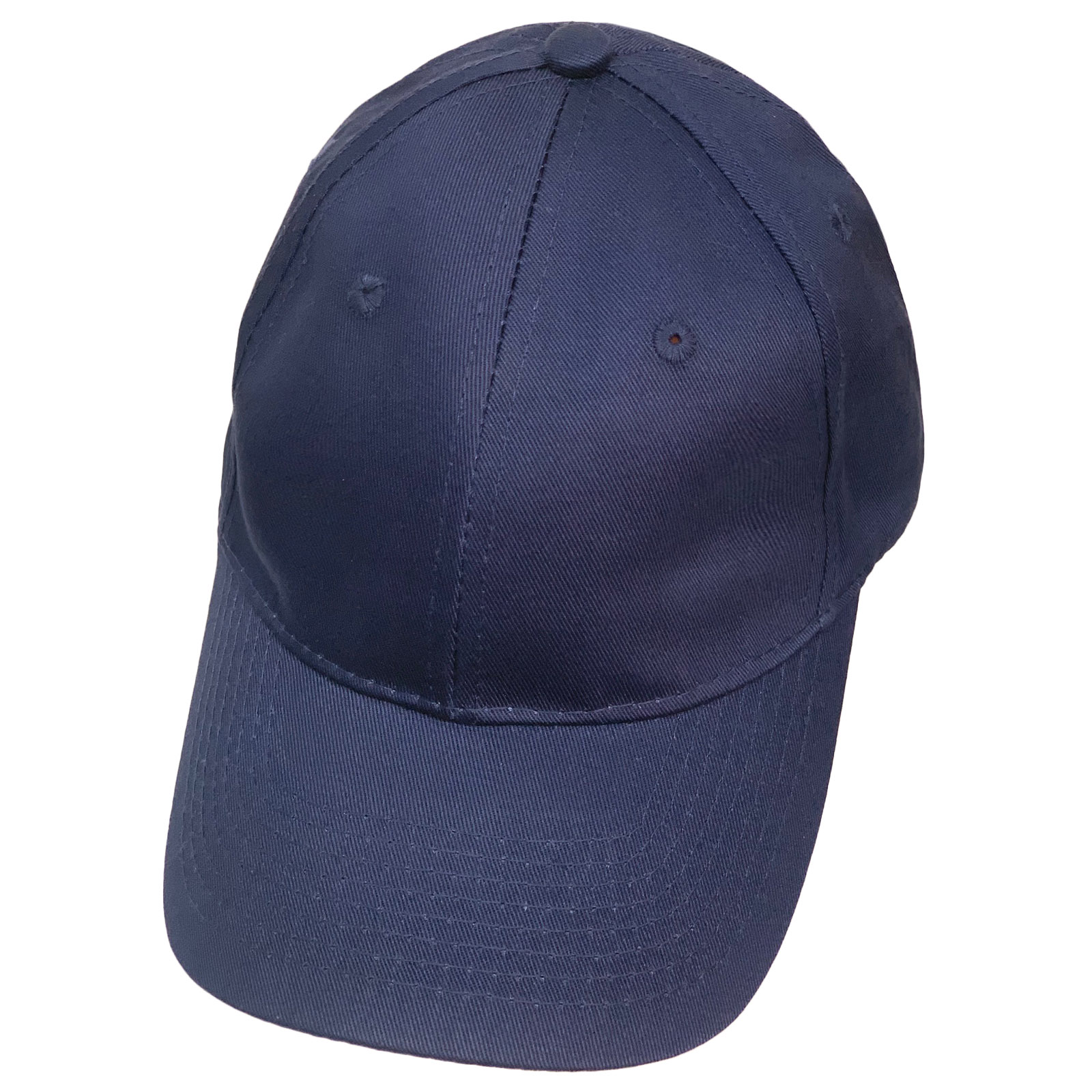 Бейсболка темного синего цвета классического кроя