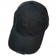 Бейсболка винтаж черного цвета из джинсовой ткани