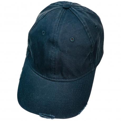 Бейсболка винтаж темно-синего цвета из джинсовой ткани