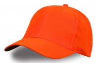 Бейсболка ярко-оранжевая