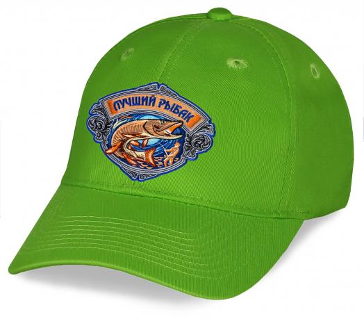 Бейсболка зеленая Лучший Рыбак