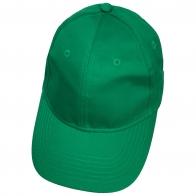 Бейсболка зеленого цвета классического кроя