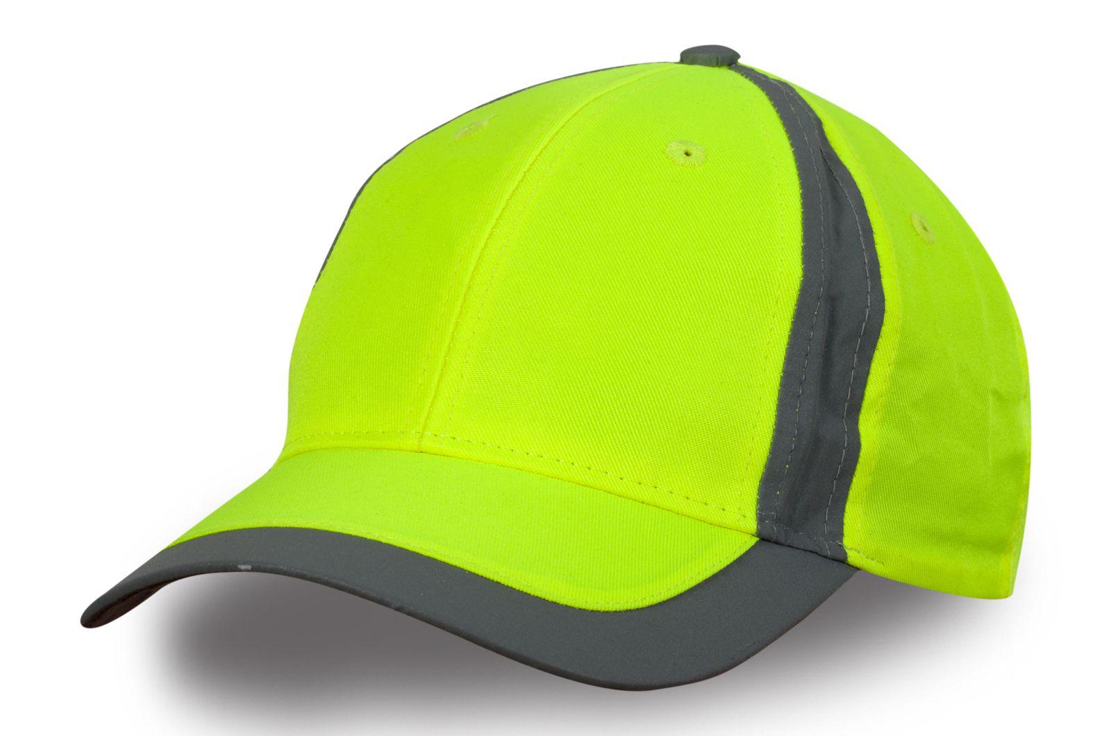 Бейсболка зелёный неон   Купить модные бейсболки