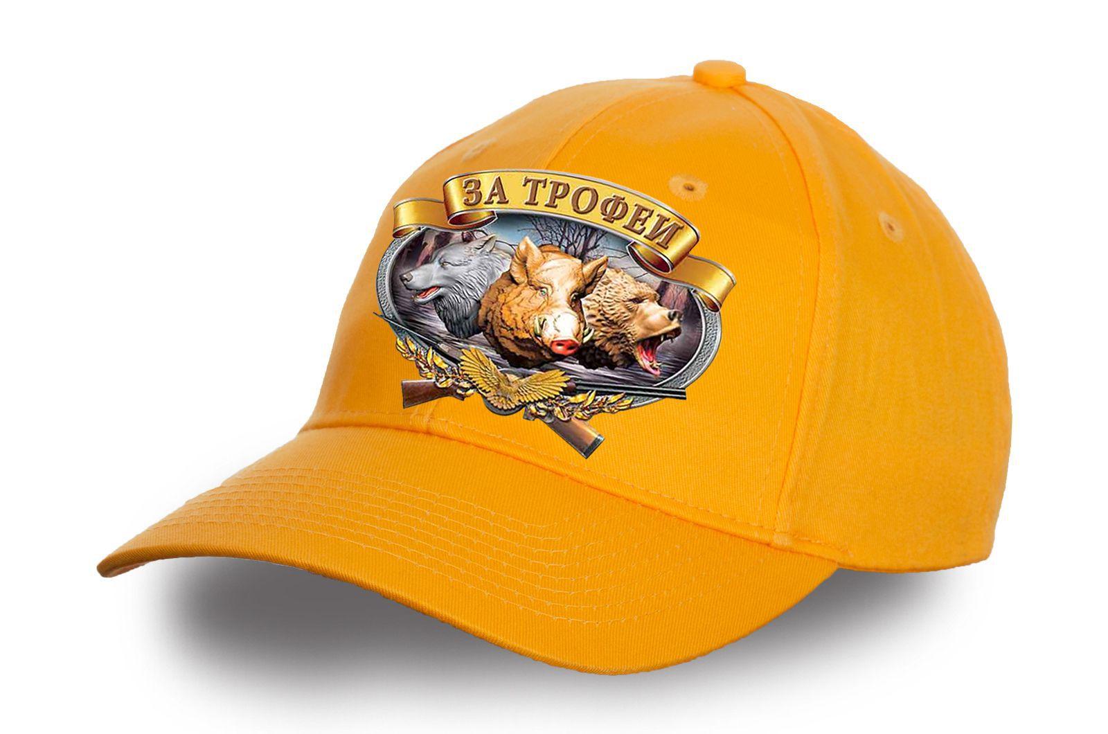 Бейсболка желтая Охотничья - купить онлайн с достакой