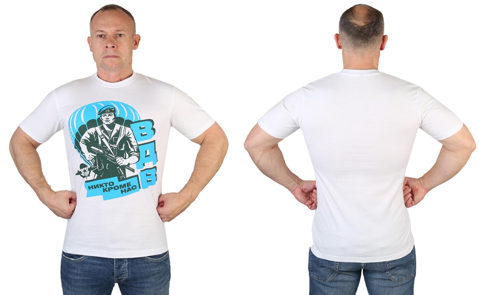 Белая мужская футболка ВДВ - купить в Военпро