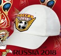 Белая бейсболка Россия.
