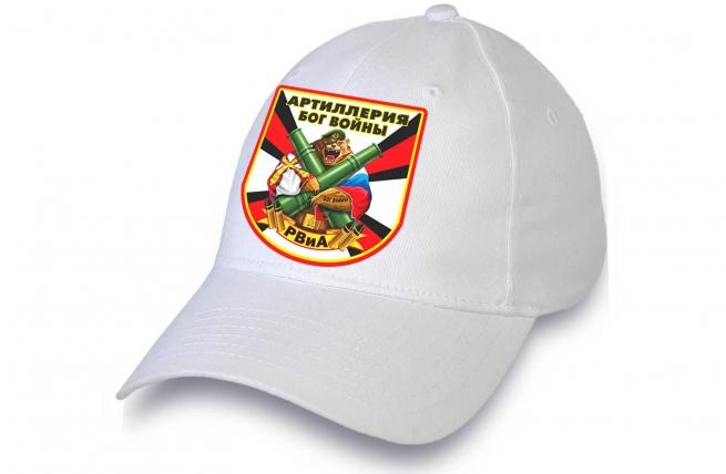 Белая бейсболка Артиллерия Бог войны