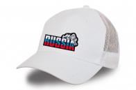 Белая бейсболка Russia