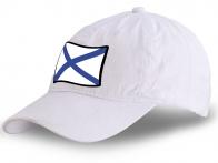 Белая бейсболка с Андреевским флагом
