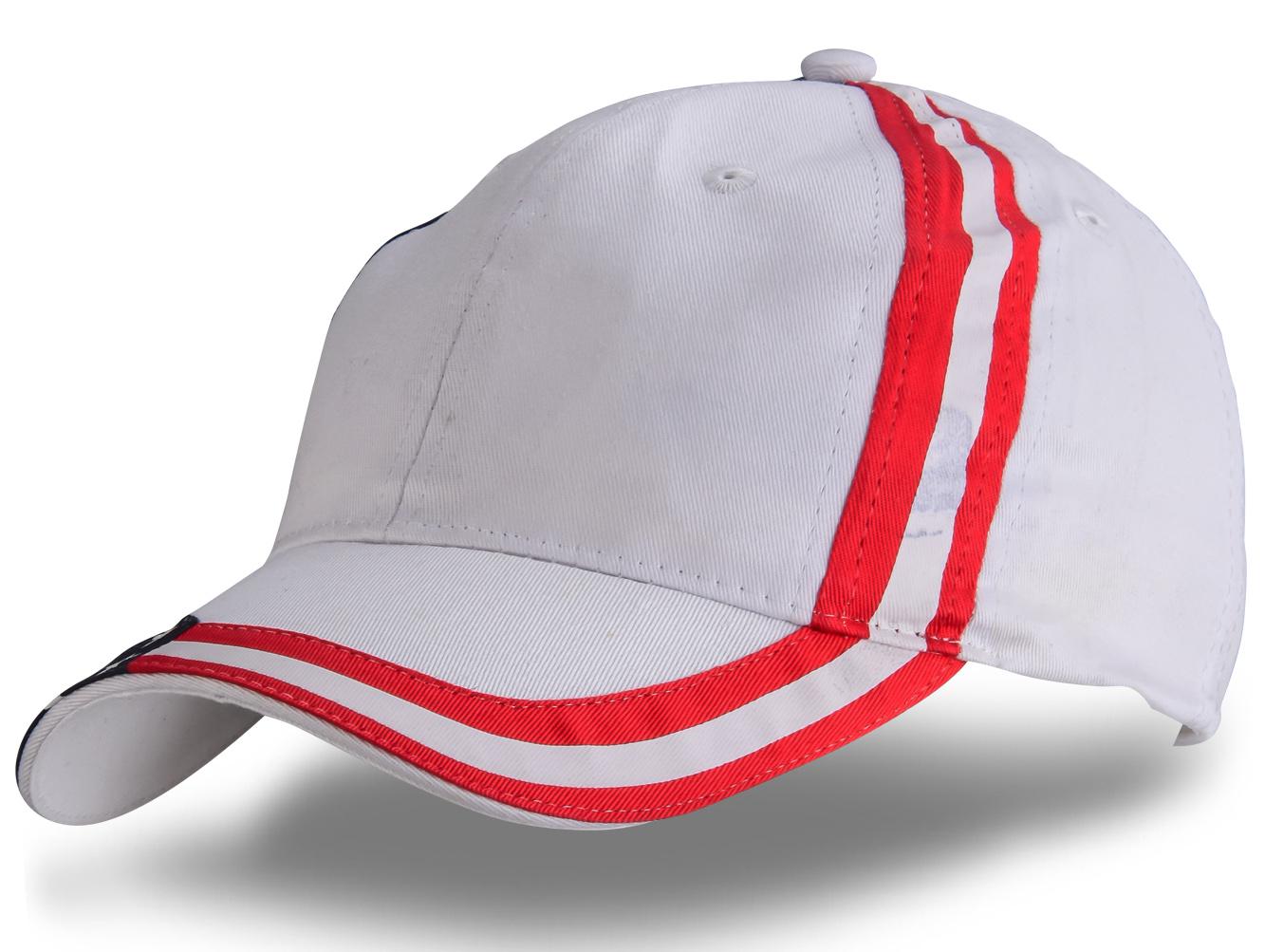 Белая бейсболка с флагом - купить в интернет-магазине с доставкой