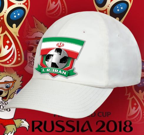 Белая бейсболка с флагом Ирана