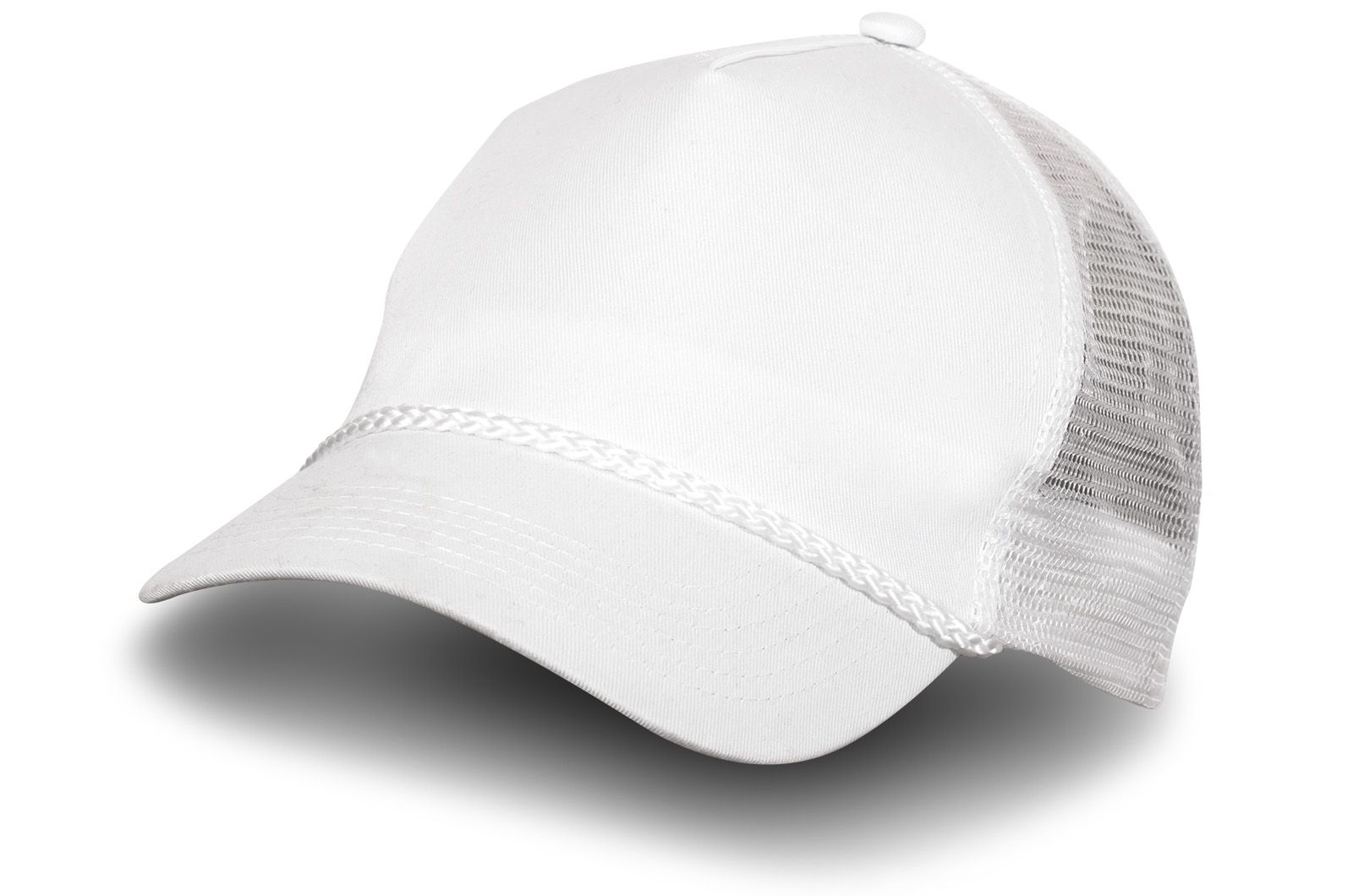 Белая бейсболка с сеткой