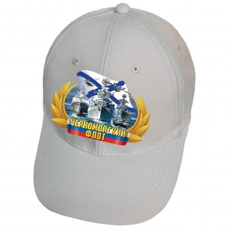 Белая бейсболка с термотрансфером Черноморский флот