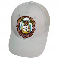 Белая бейсболка с вышивкой Спутник