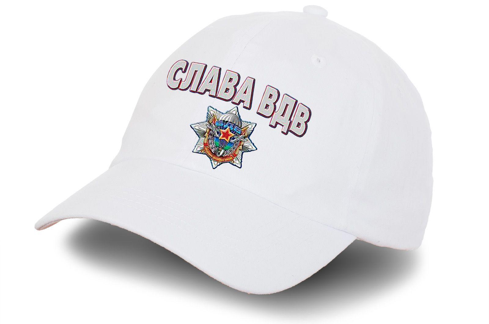 """Белая бейсболка """"Слава ВДВ"""""""