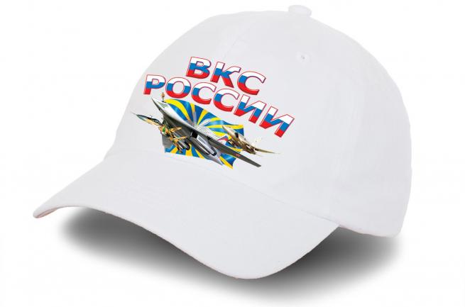 """Белая бейсболка """"ВКС России"""" - купить по выгодной цене"""