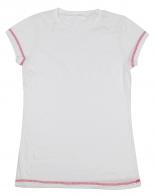Белая детская футболка, натуральная ткань