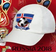 Белая фанатская кепка сборной Исландии