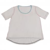 Белая футболка из хлопка. Модный пошив, приятная цена