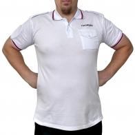 """Белая футболка поло """"Полиция"""""""