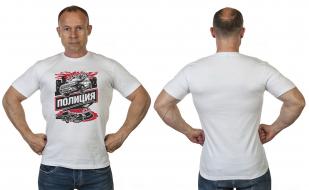 Белая мужская футболка с принтом Полиция от Военпро