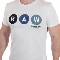 Белая футболка с брендовым принтом от G-Star Raw®