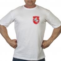 Белая футболка с Погоней (герб Беларуси)
