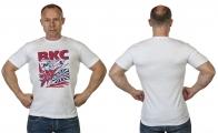 """Стильная белая футболка с принтом """"ВКС"""""""