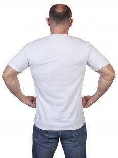 """Белая футболка с вышивкой """"Военно-морской флот России"""" - купить по низкой цене"""